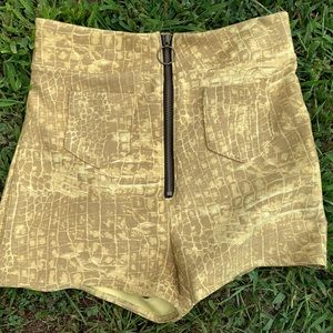 NWOT Urban Outfitters Snakeskin Shorts